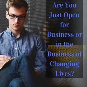 Dr. Jason Carthen: Are You Just Open for Business