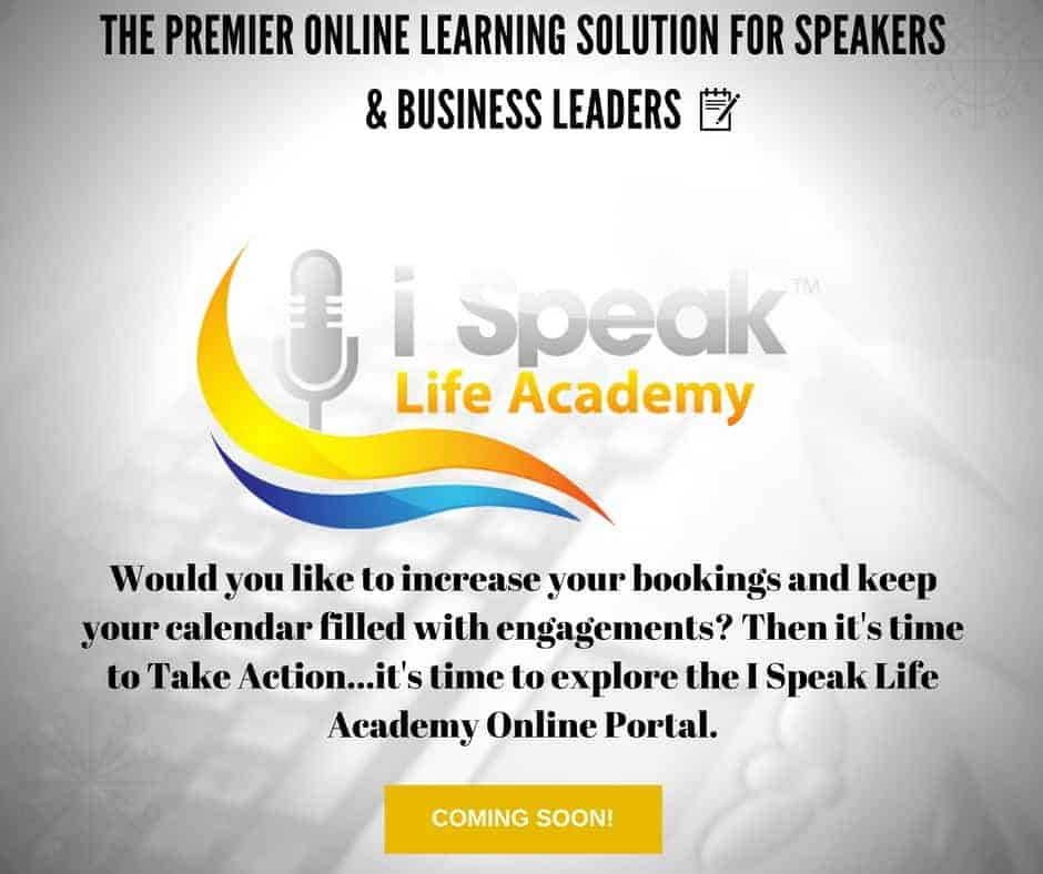 Dr. Jason Carthen: I Speak Life Academy Online Portal:Coming Soon
