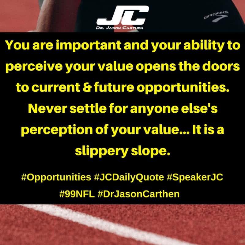 Dr. Jason Carthen: Opportunities