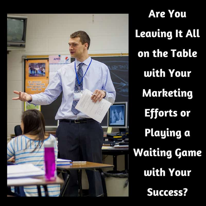 Dr. Jason Carthen: Marketing Efforts or Playing a Waiting Game with Your Success