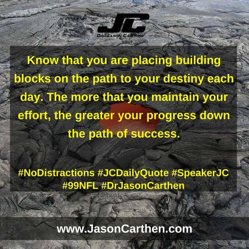 Dr. Jason Carthen:  No Distractions