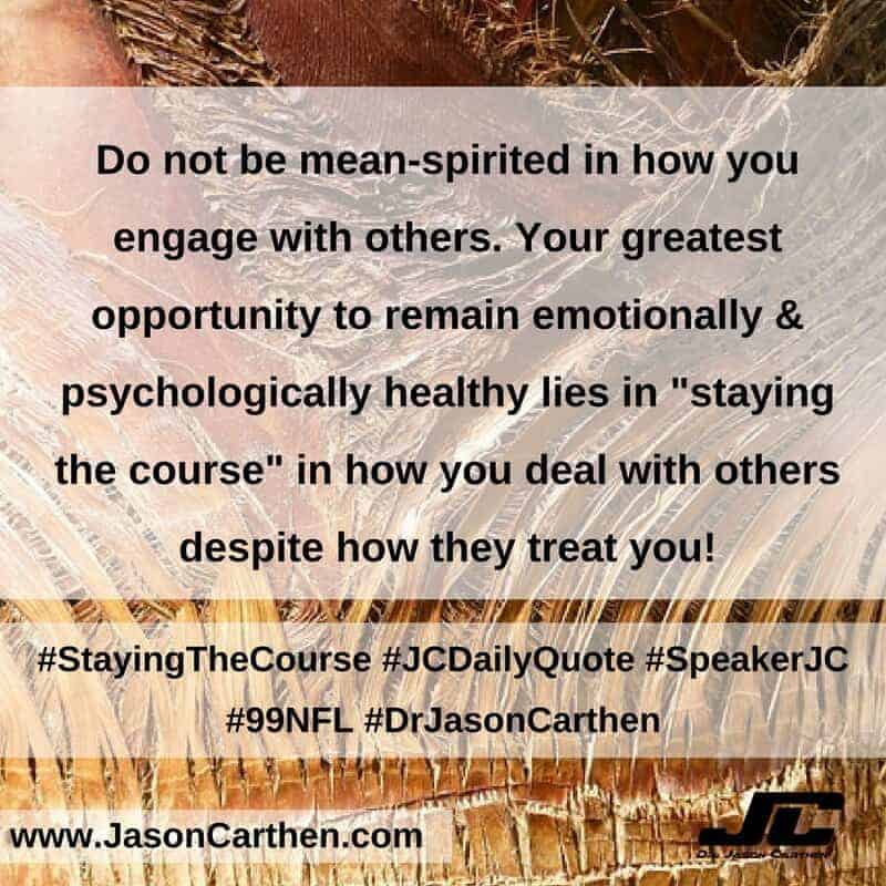 Dr. Jason Carthen: Staying The Course