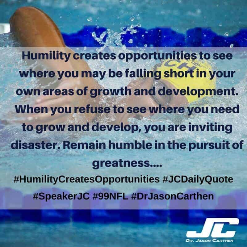 Dr. Jason Carthen: Humility Creates Opportunities