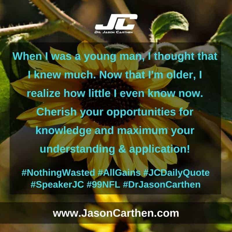 Dr. Jason Carthen: Nothing Wasted