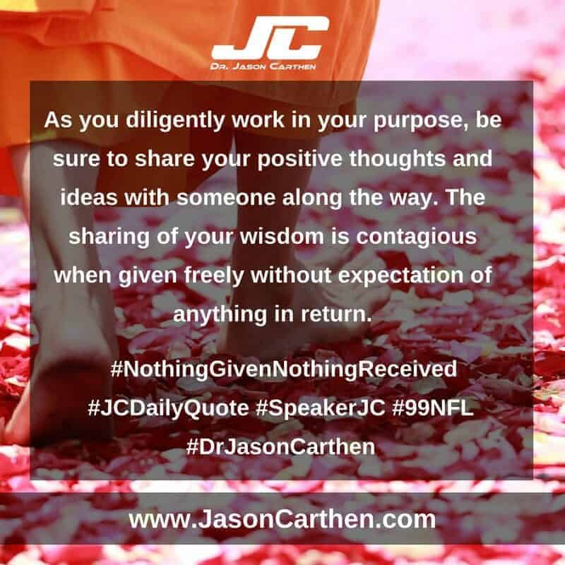 Dr. Jason Carthen: Nothing Given Nothing Received