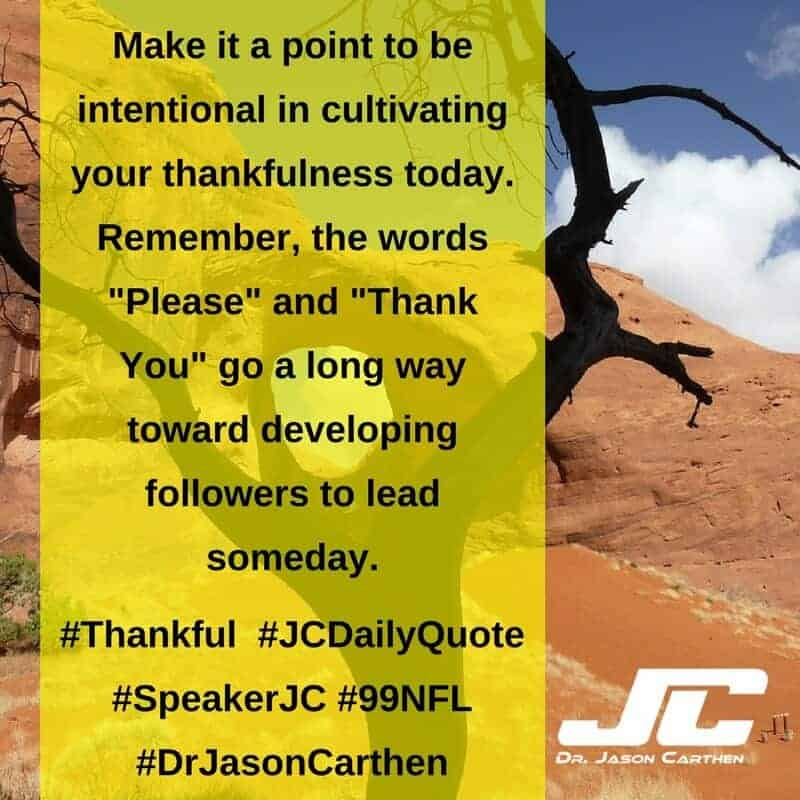 Dr. Jason Carthen: Thankful