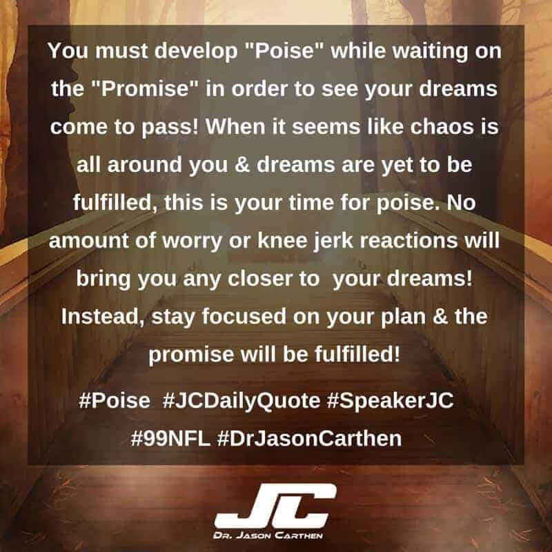 Dr. Jason Carthen: Poise