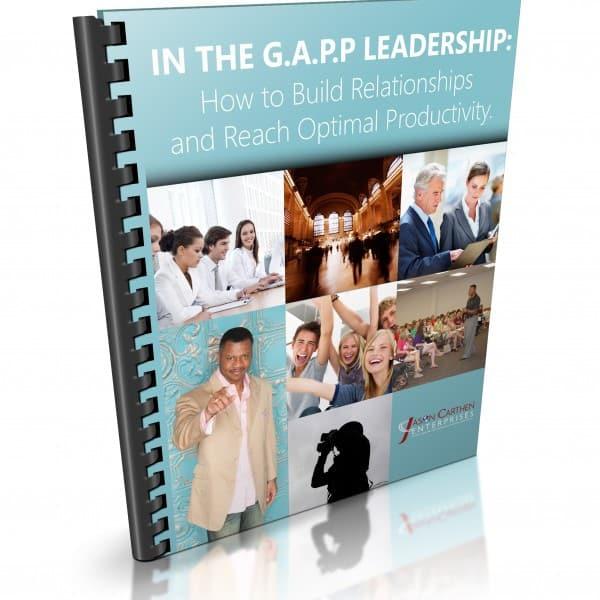 Dr. Jason Carthen: IN the GAPP Leadership Workbook