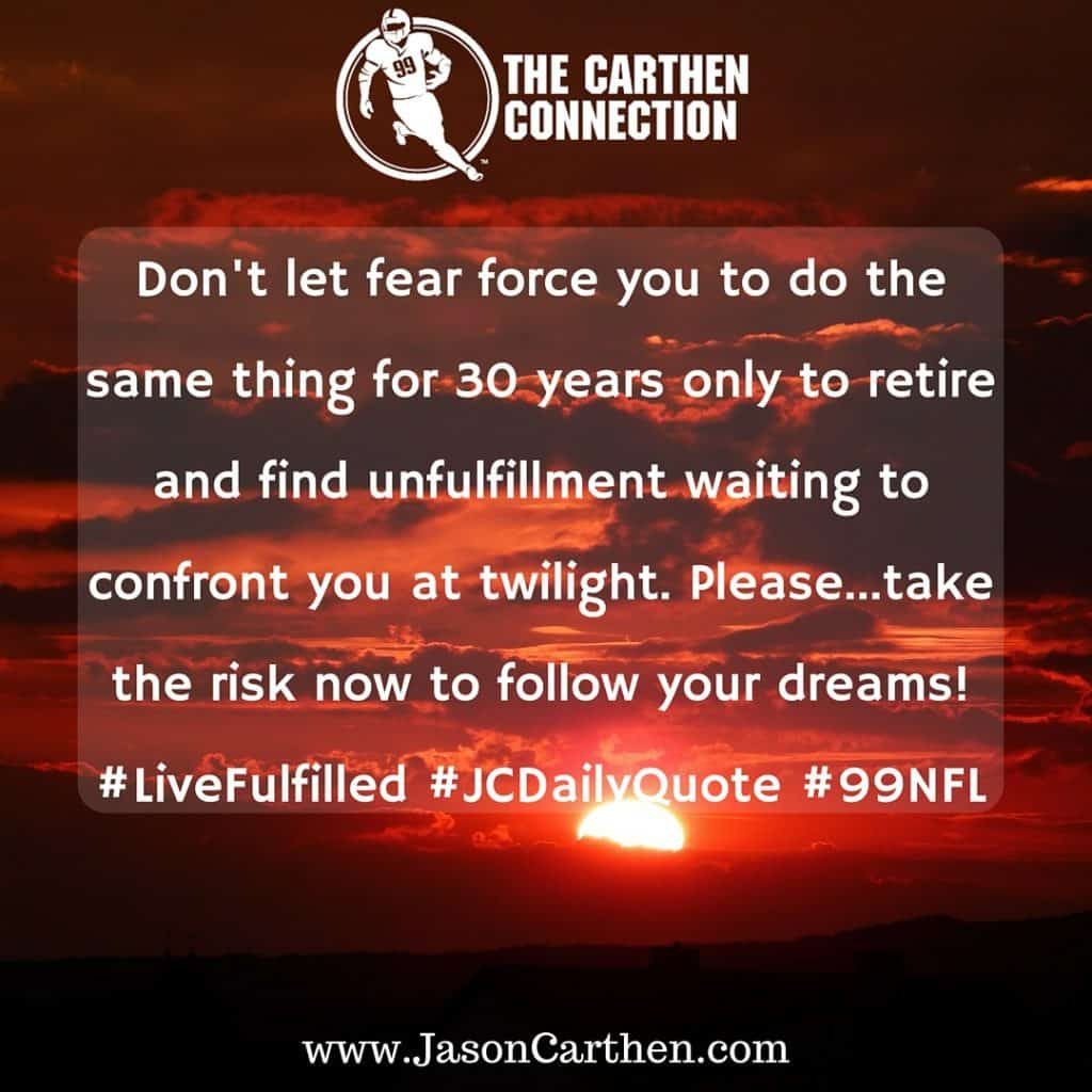 Dr. Jason Carthen: Fear, RiskDaily Quote_4.14.2016