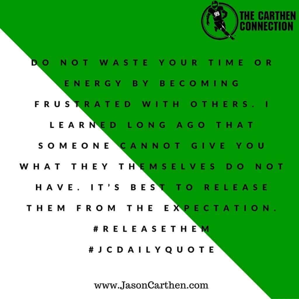Dr. Jason Carthen: Frustrated, Energy