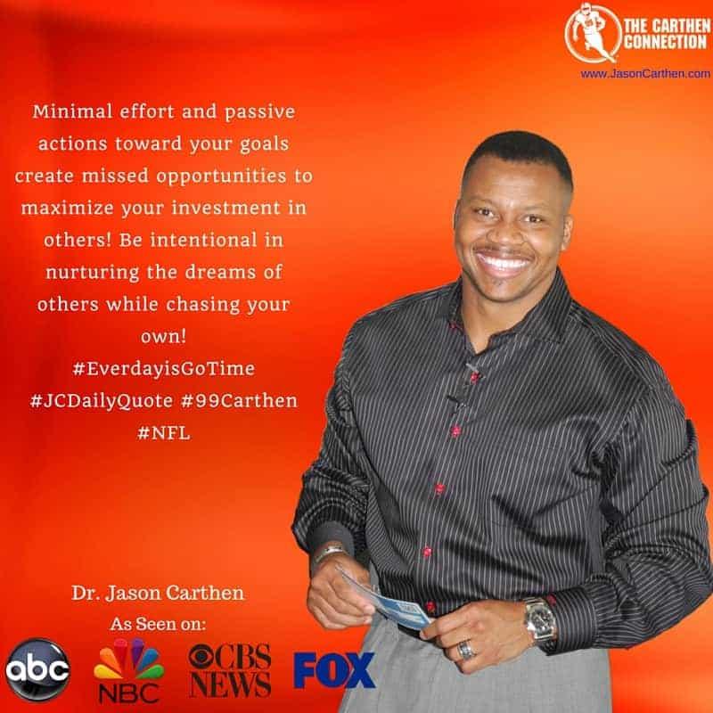 Dr.  Jason Carthen: Investment