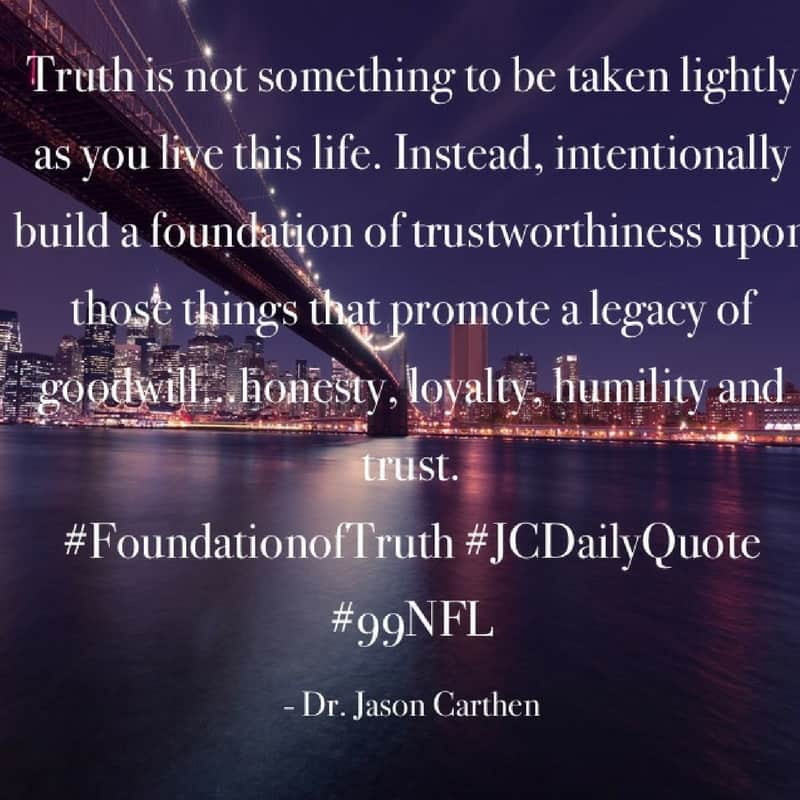 Dr. Jason Carthen: Trustworthiness