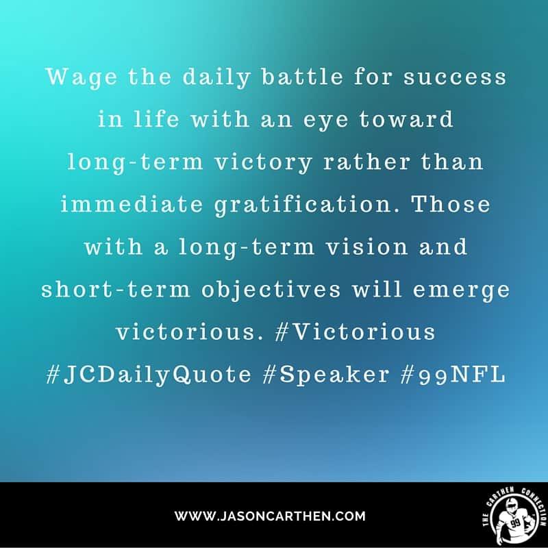 Dr. Jason Carthen: Gratification