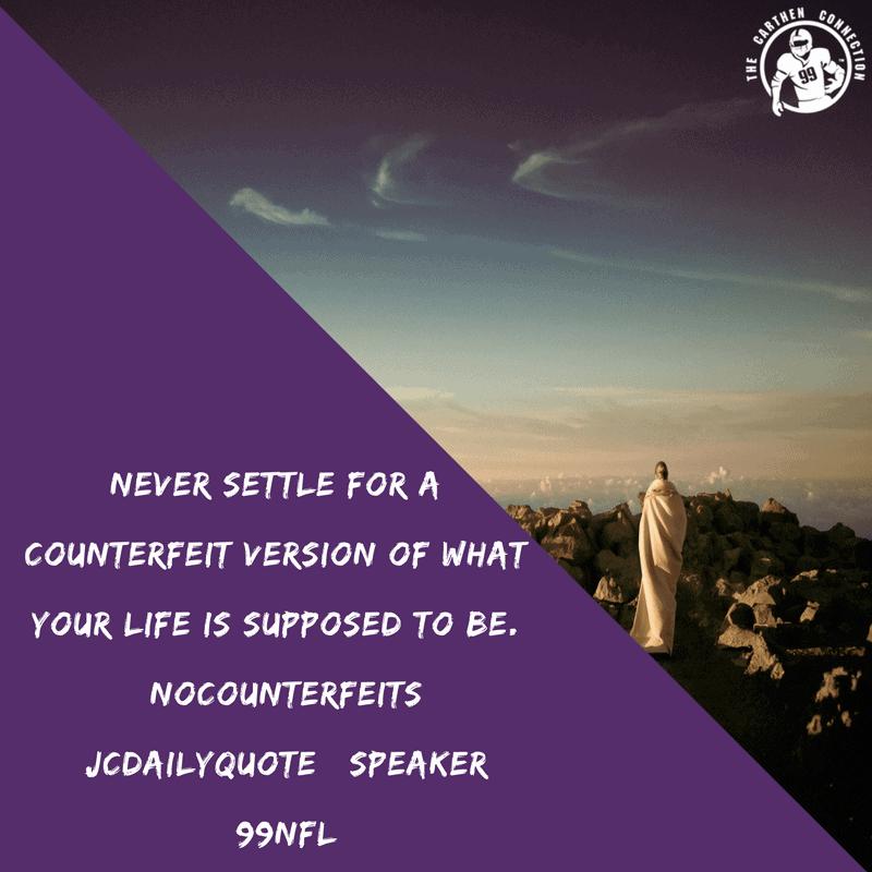Dr. Jason Carthen: No Counterfeits