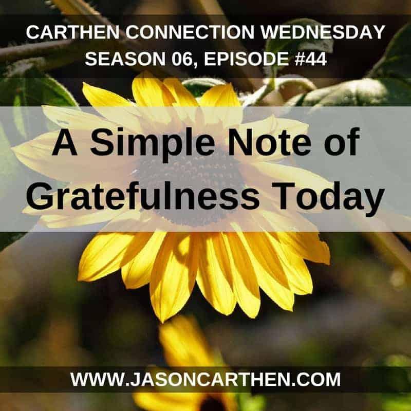 Dr. Jason Carthen: Note of Gratefulness