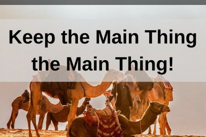 Dr. Jason Carthen: Keep the Main Thing