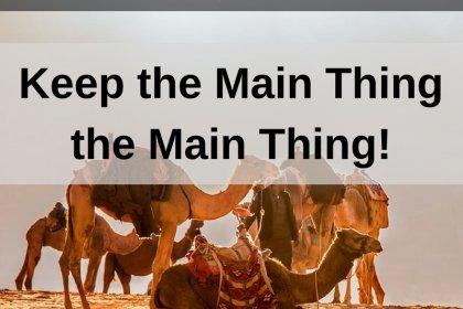 Dr. Jason Carthen: Keep the Main Thing