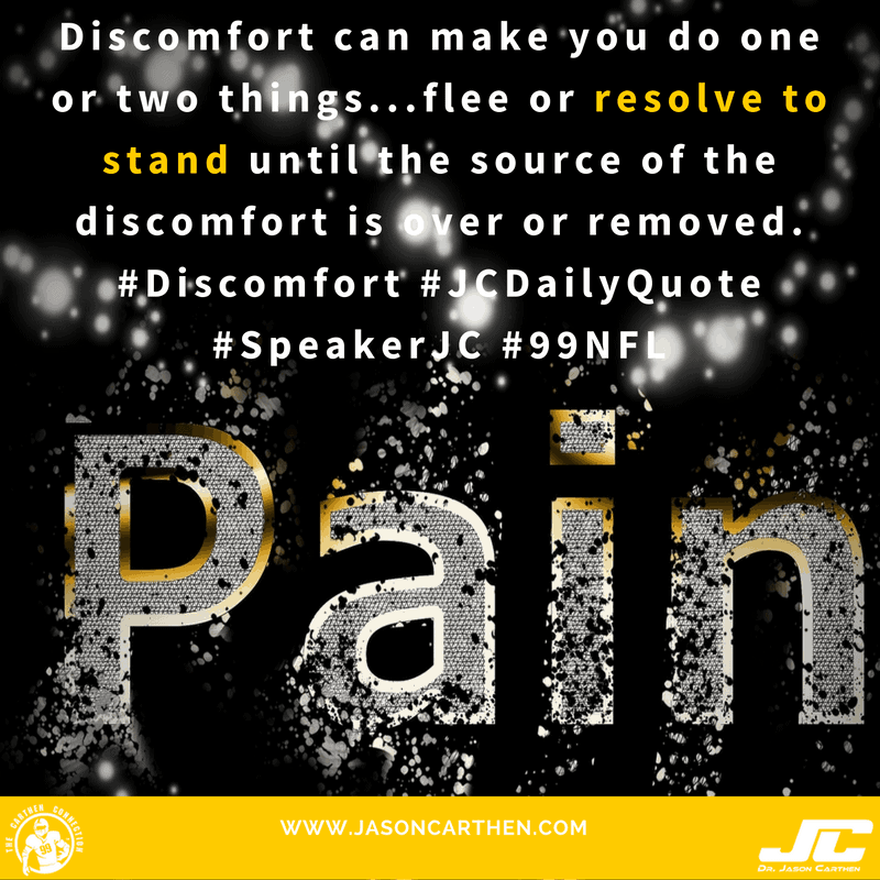 Dr. Jason Carthen: Discomfort