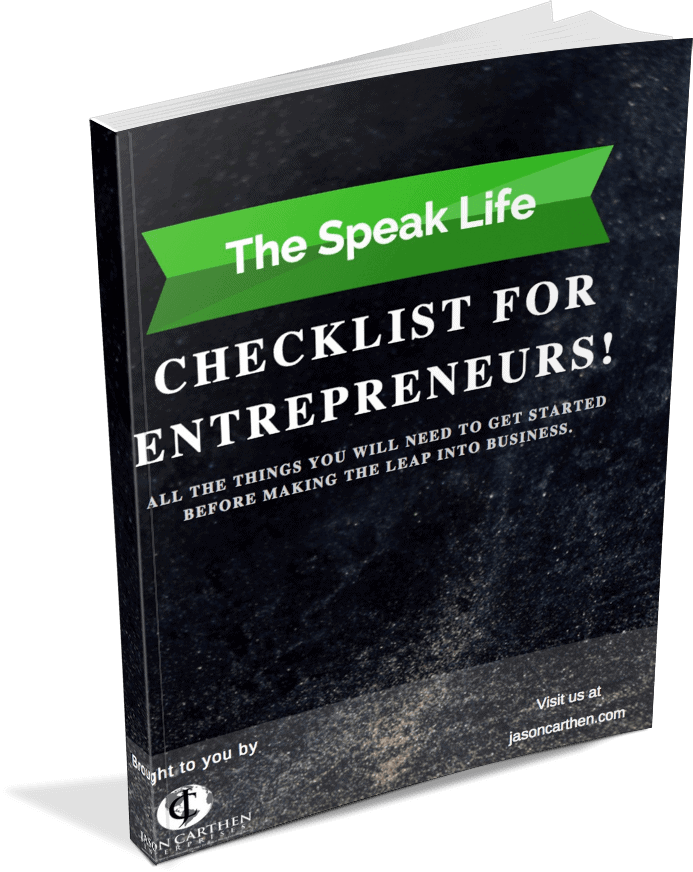 Dr. Jason Carthen: Checklist for Entrepreneurs