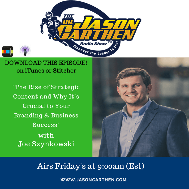 Dr. Jason Carthen: Podcast Posting Joe Szynkowski